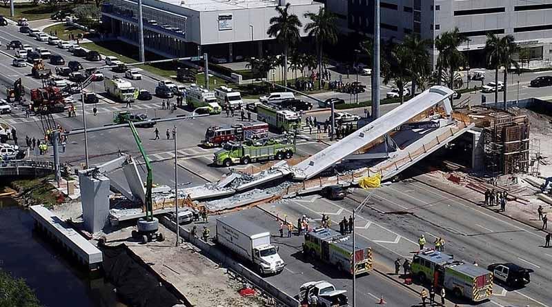 Son cuatro los fallecidos por colapso de puente en Miami