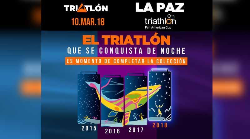 Más de mil atletas recorrerán las bellezas de La Paz en la quinta edición del Triatlón 2018