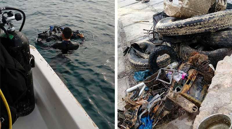Logra trabajo coordinado, exitosa jornada de limpieza submarina