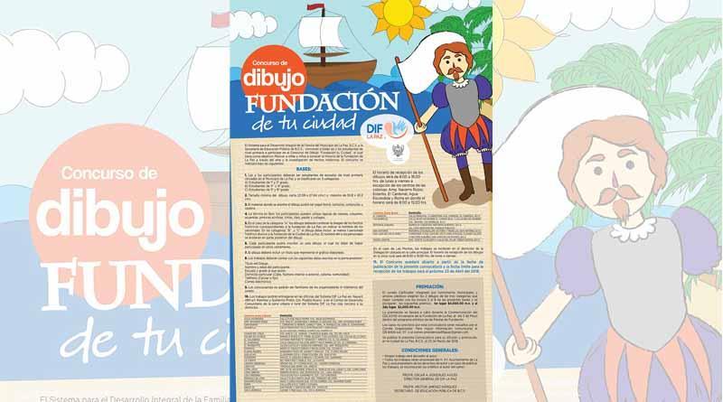 """Concurso de dibujo """"Fundación de tu Ciudad"""", DIF Municipal La Paz"""