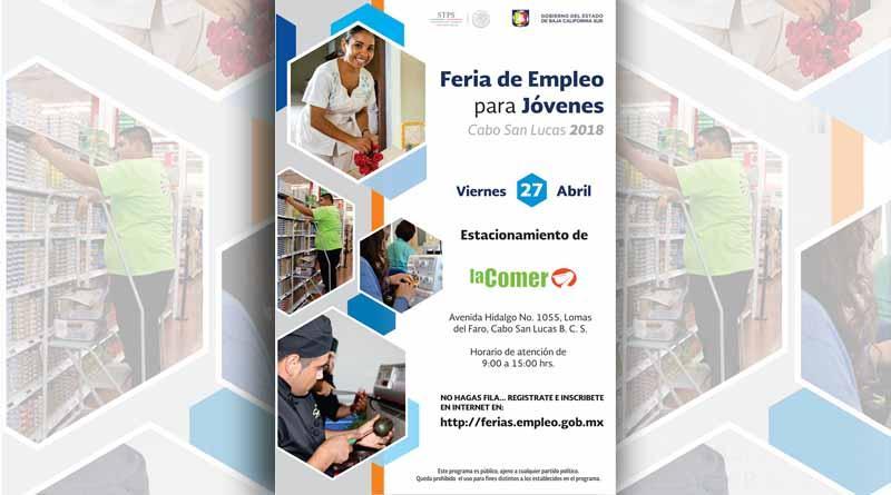 Se realizará Feria de Empleo para jóvenes este 27 de Abril en Cabo San Lucas