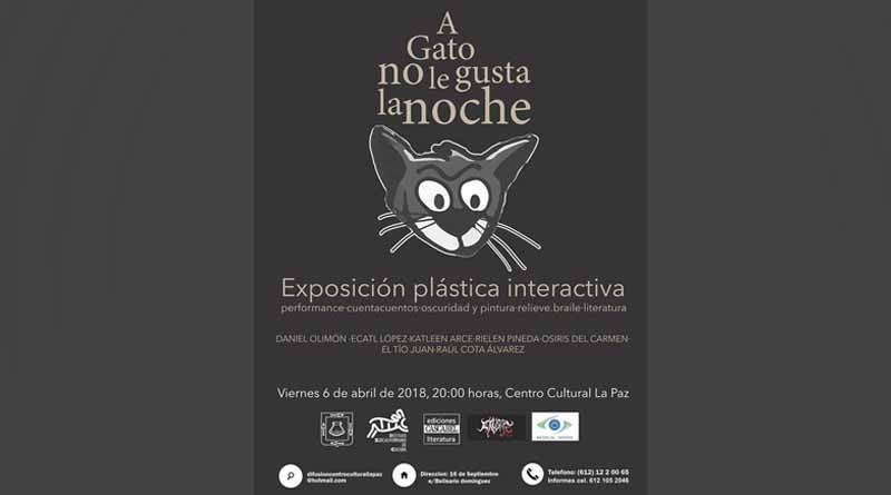 """Llevará a cabo Instituto de Cultura La Exposición Interactiva """"A Gato no le Gusta La Noche"""""""