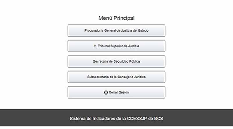 Trabaja BCS en sistema de indicadores para mejorar Sistema de Justicia Penal