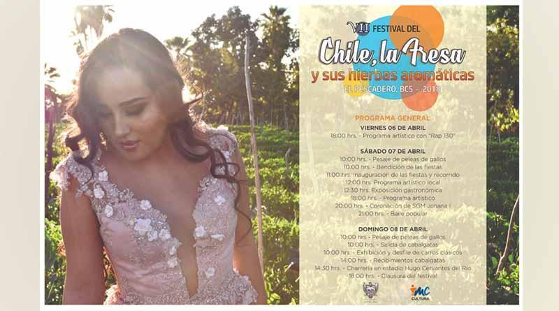 """Invitan al Séptimo  Festival """"El Chile, la Fresa y sus hierbas aromáticas"""" El Pescadero 2018"""
