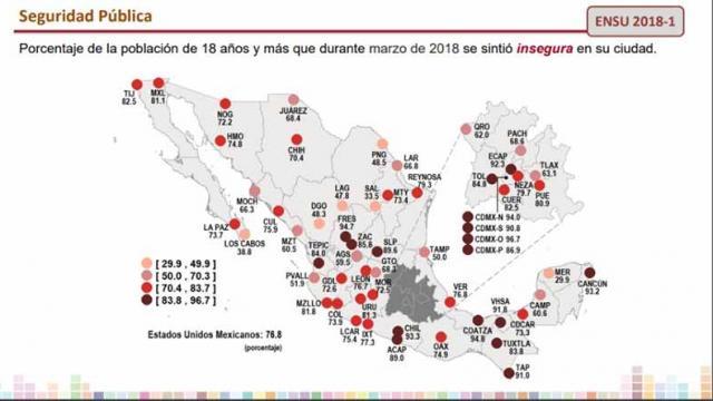 Los Cabos en tercer lugar nacional en percepción de seguridad en marzo: INEGI