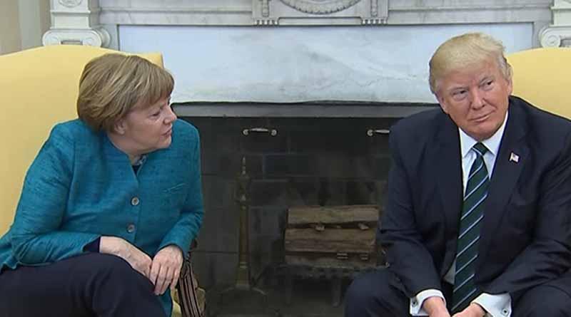 Anuncian posible encuentro entre Trump y Merkel en Washington