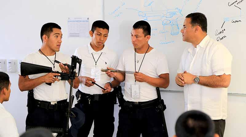 Supervisa titular de Seguridad Pública, capacitación de cadetes