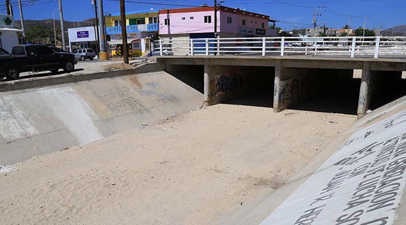 Supervisan autoridades del Ayuntamiento de Los Cabos, Condiciones de canales pluviales