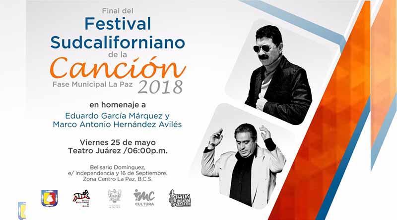 Invitan a la final del Festival Sudcaliforniano de la Canción fase municipal La Paz