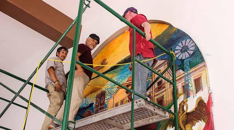 Realiza Instituto de Cultura restauración de Mural