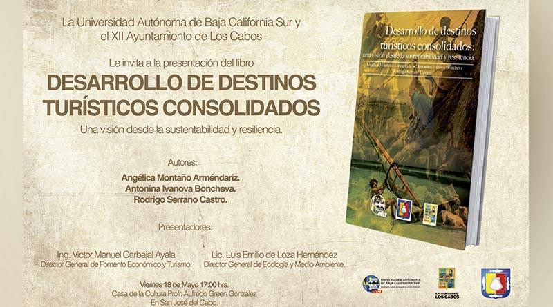 """Invita Ayuntamiento de Los Cabos a la presentación del libro """"Desarrollo de Destinos Turísticos Consolidados"""""""