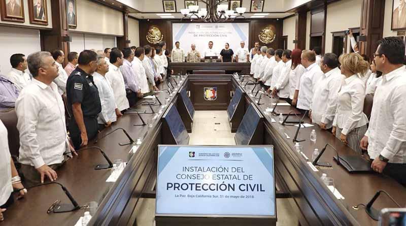BCS es ejemplo de unidad y profesionalismo en materia de protección civil: CMD