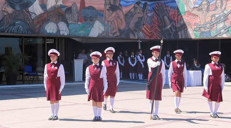 Realizan en SEP II  Concurso Estatal Académico, de escoltas y pintura de secundarias generales