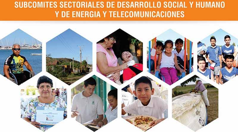 Se validan resultados de los Subcomités Sectoriales de Desarrollo Social y Humano, y de Energía y Telecomunicaciones