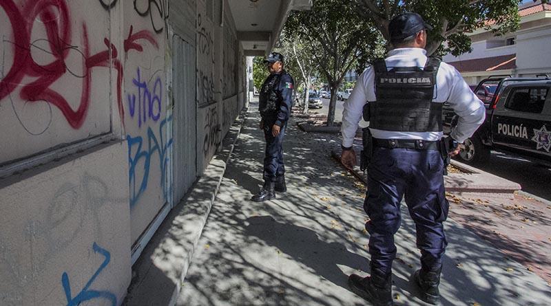 Intensifica Policía Municipal vigilancia en zona centro de la ciudad de La Paz