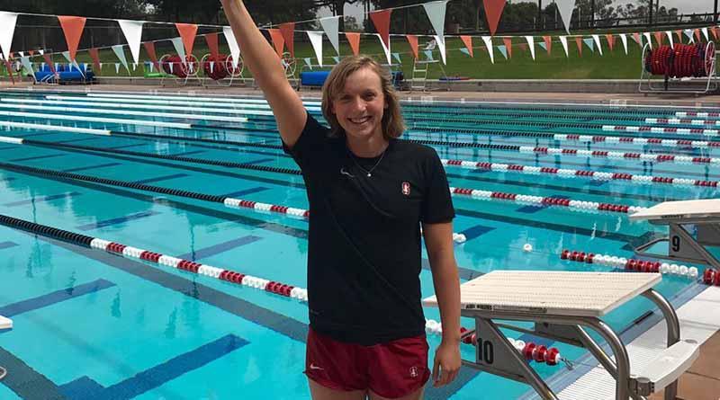 Katie Ledecky vuelve a romper récord mundial de mil 500 metros de nado