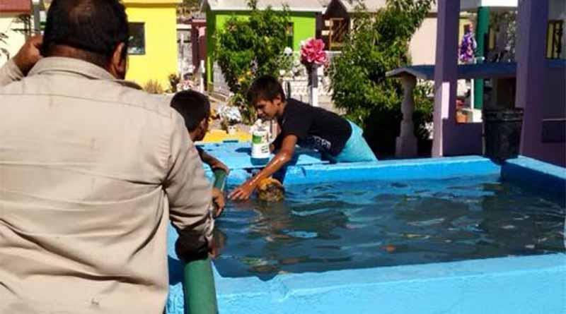 SAPA La Paz distribuyó más de 180 mil litros de agua a panteones