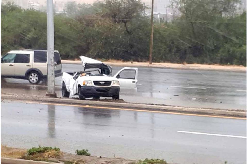 Se registra accidente en carretera Transpeninsular con al menos 3 lesionados
