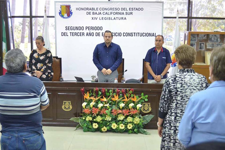 El Congreso del Estado recordó la trayectoria de Matías Amador Moyrón