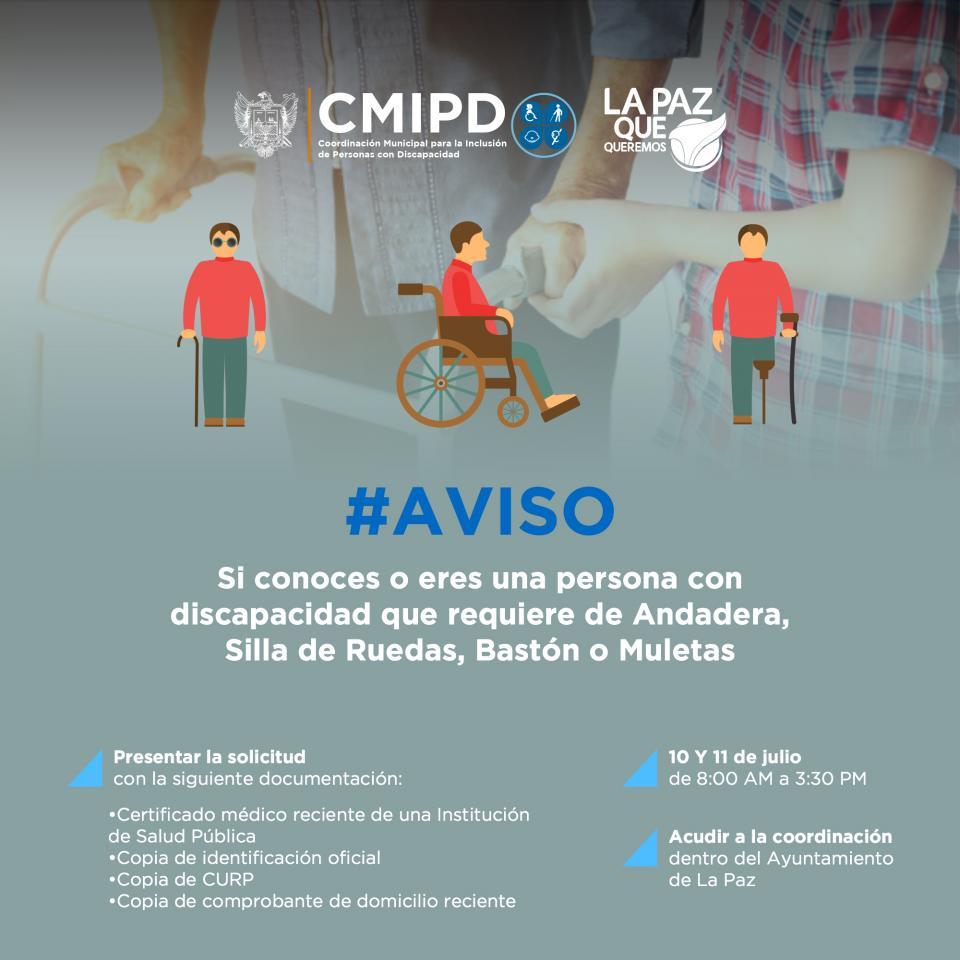 Trabaja Ayuntamiento de La Paz en beneficio de personas con discapacidad