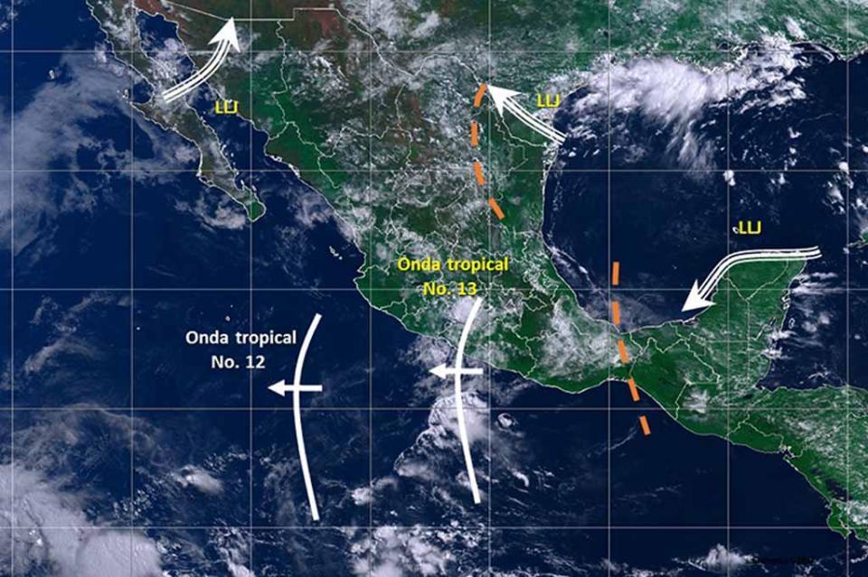 Onda tropical 13 mantendrá sus efectos en el occidente del país