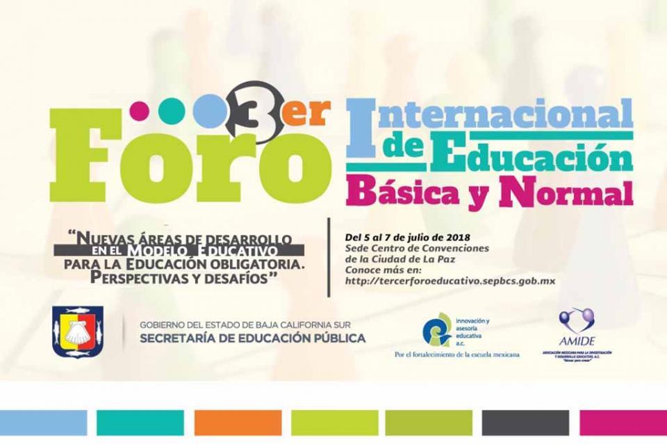 Participarán más de cinco mil docentes en el Tercer Foro Internacional de Educación Básica y Normal: SEP