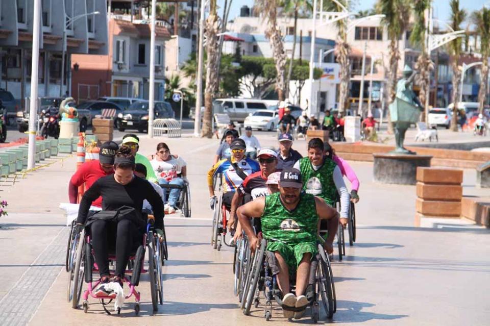 Primera rodada para personas con discapacidad en Baja California Sur