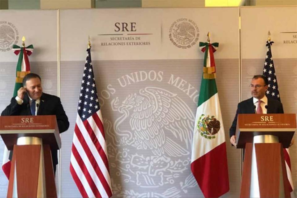México y EUA socios, aliados y amigos, destaca Pompeo tras visita a México