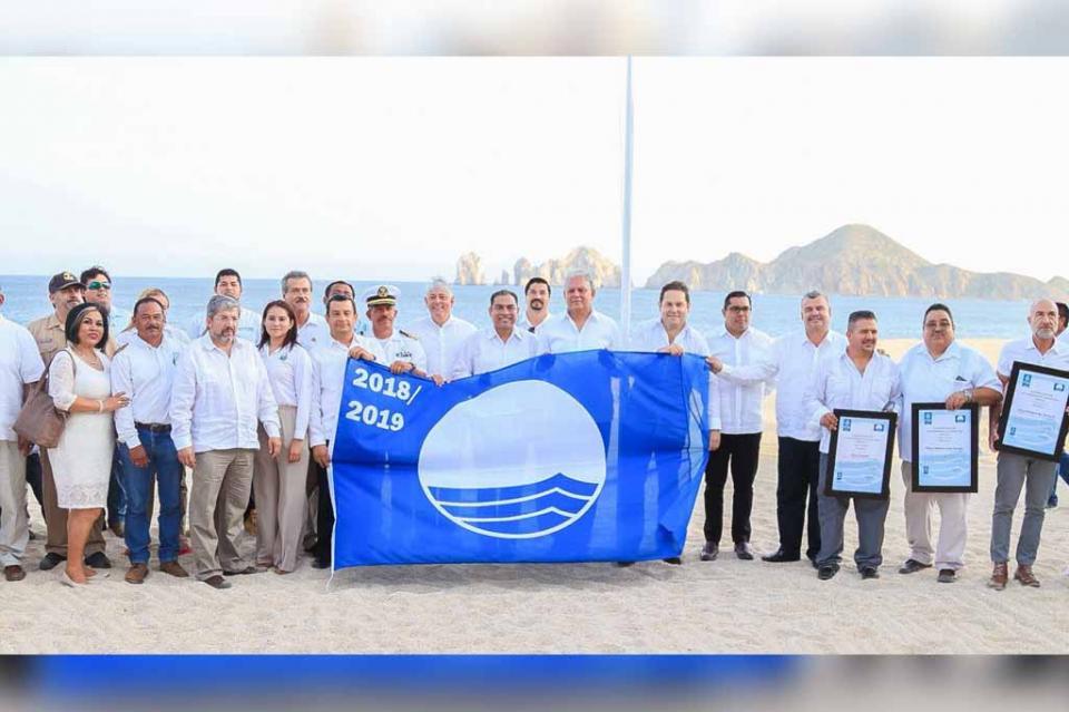 "Baja California Sur, 1er lugar Nacional ""Blue Flag"" con 21 playas certificadas"
