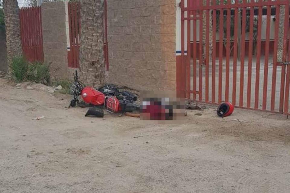 Muere motociclista tras estrellarse contra una palmera en La Paz