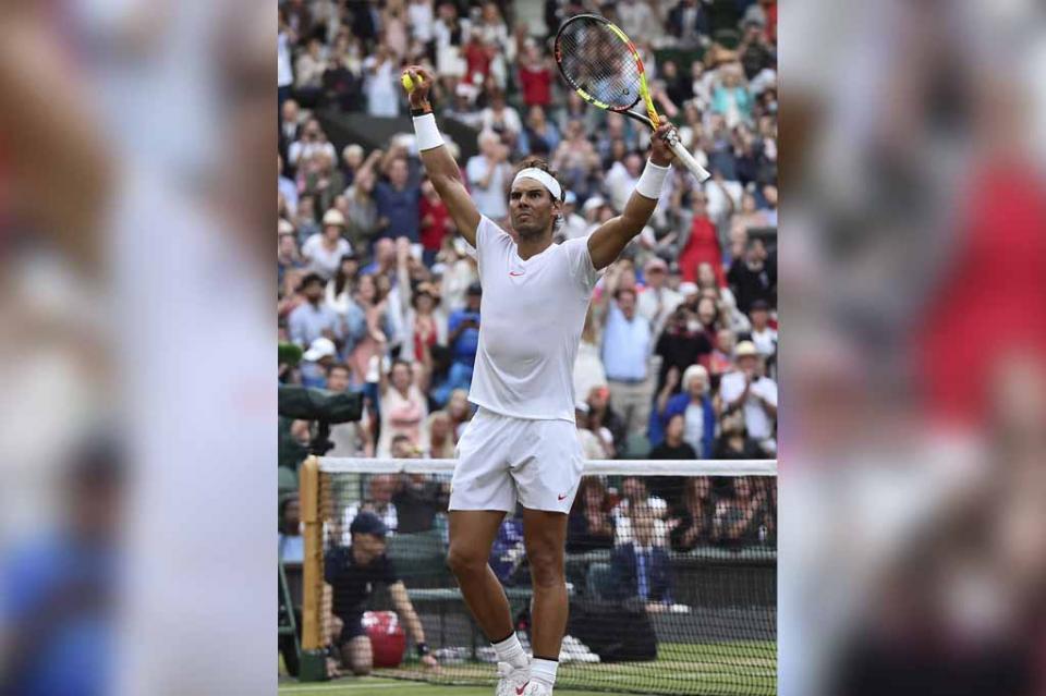 Nadal vence a Del Potro y disputará semifinal de Wimbledon con Djokovic