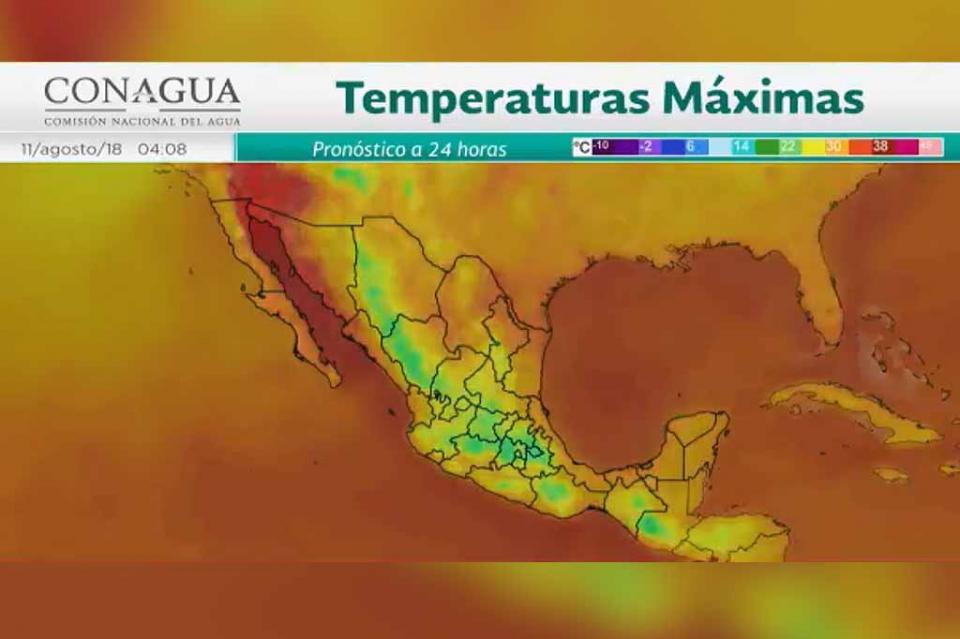 Sábado caluroso en ocho estados del país