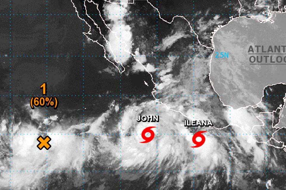 Bajo vigilancia BCS por trayectoria de la Tormentas Ileana y John