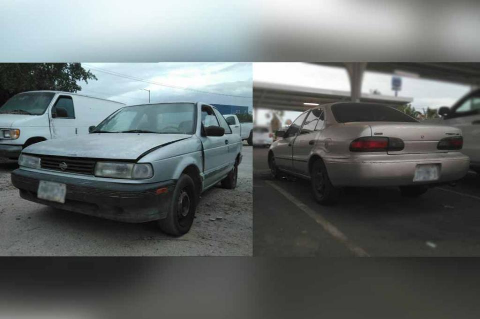 Localizan dos vehículos con reporte de robo en La Paz