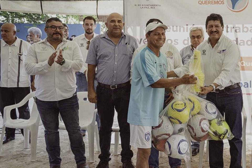En tres años crece municipio de La Paz en temas de apoyos al deporte
