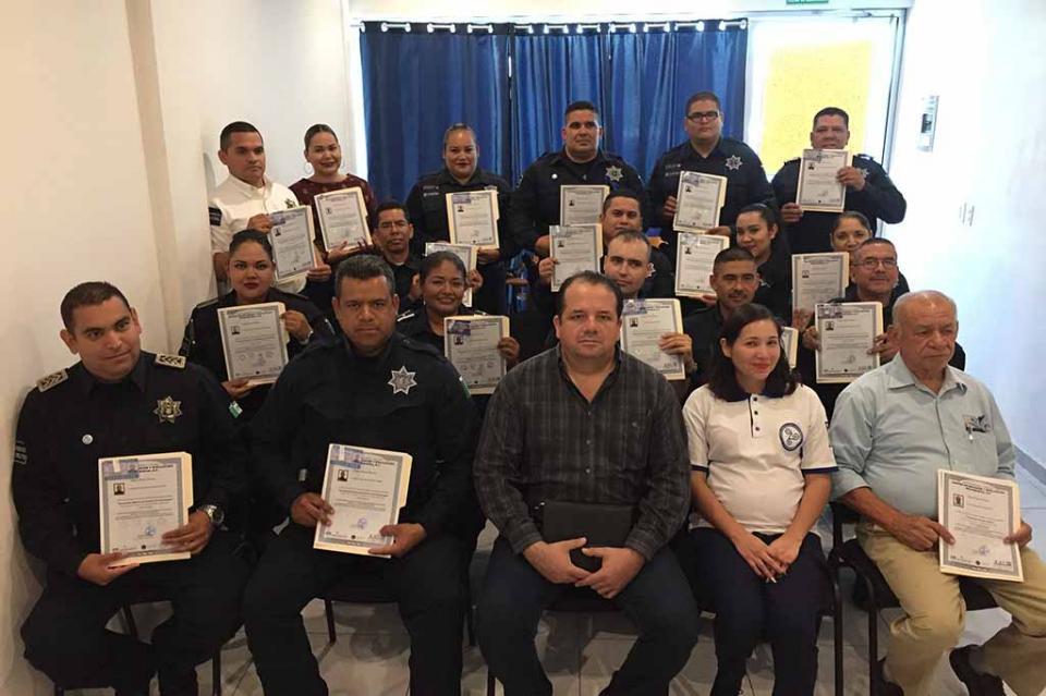 Certifican a Policías Municipales en el Modelo Homologado de Justicia Cívica, Buen Gobierno y Cultura de la Legalidad