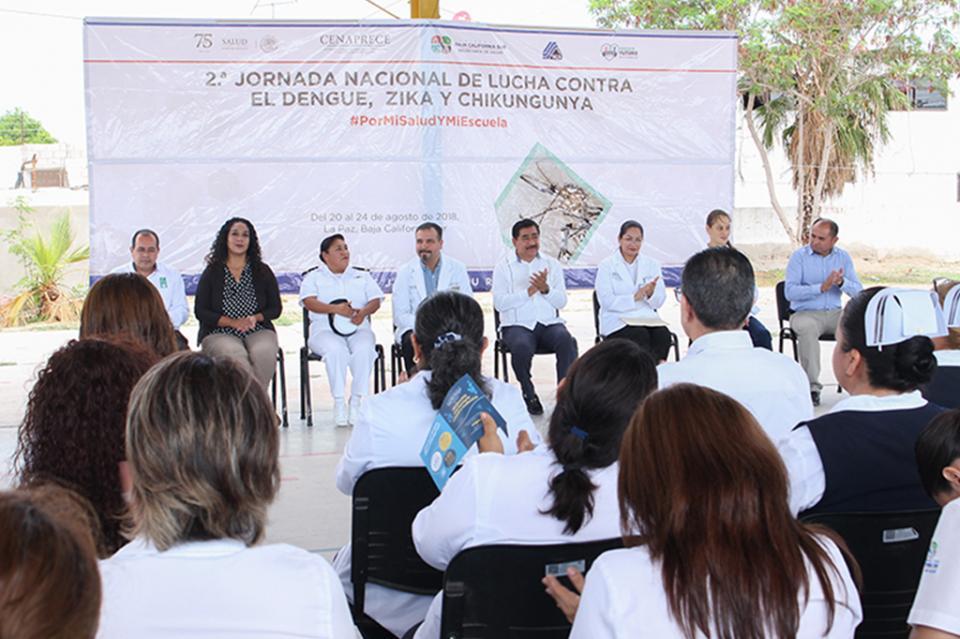 Inicia en BCS La II Jornada Nacional de Lucha Contra El Dengue, Zika y Chikungunya