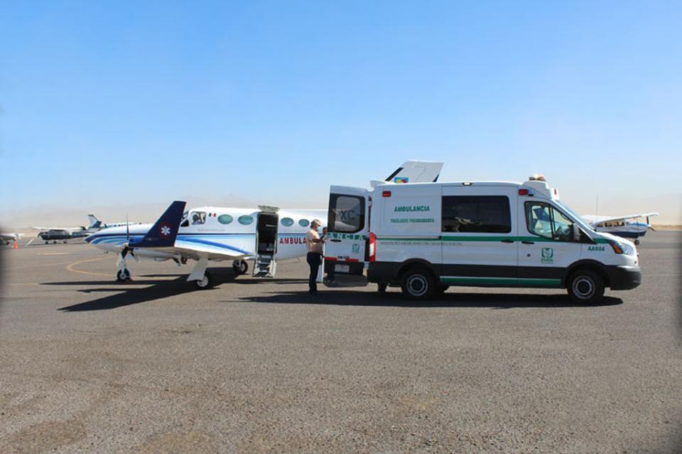 Aéreo Ambulancia agilizó atención médica para recién nacidos