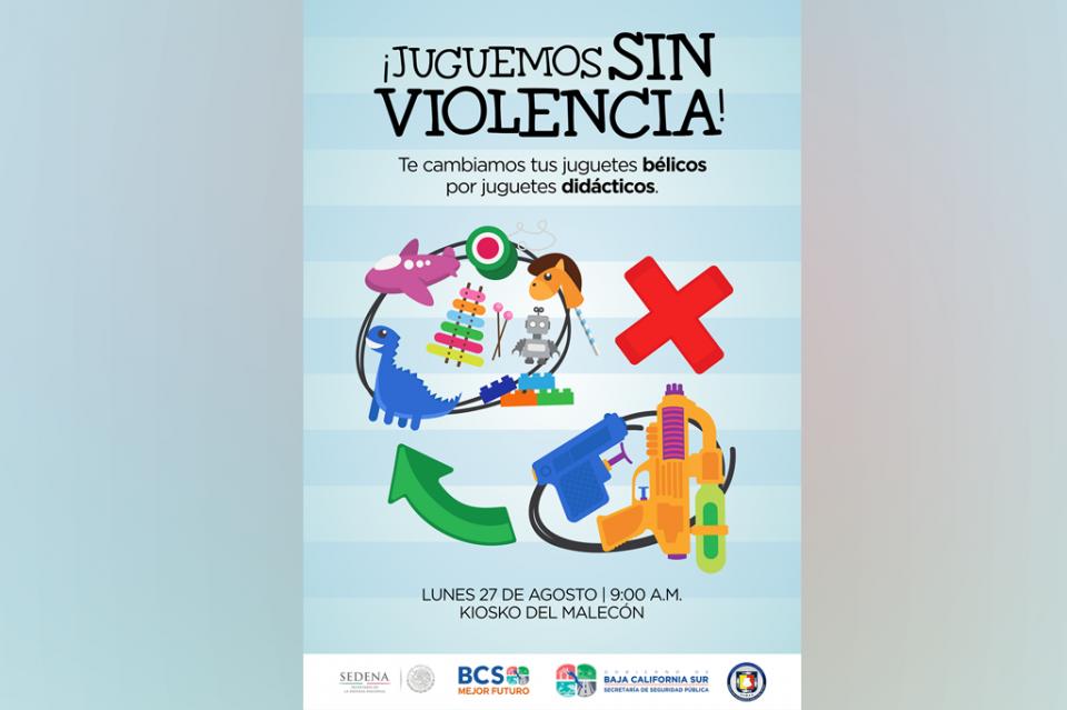 """SEDENA y SSPE unidos en la campaña """"Juguemos Sin Violencia"""""""