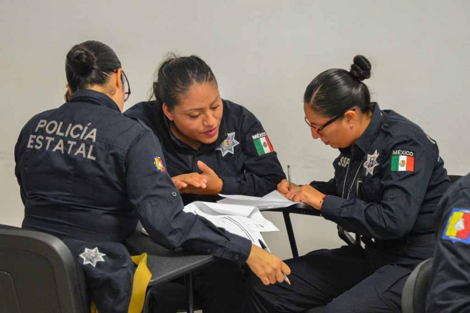 Capacitan a Policías Estatales en competencias básicas de la función policial