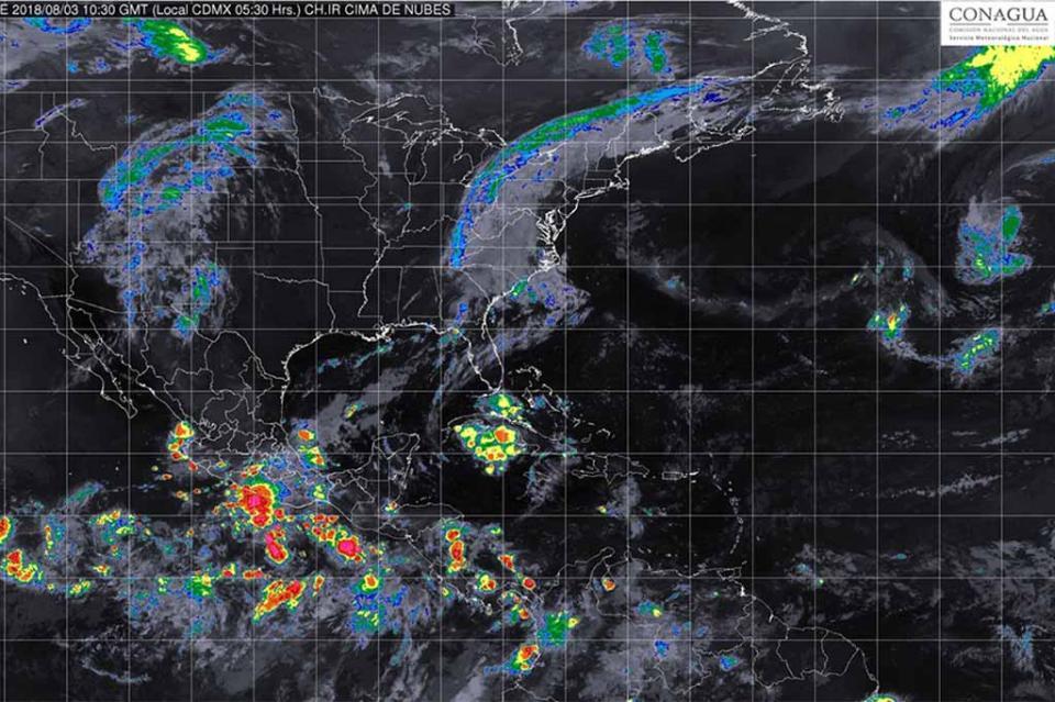 Zona de inestabilidad aumenta potencial para desarrollo ciclónico en Colima