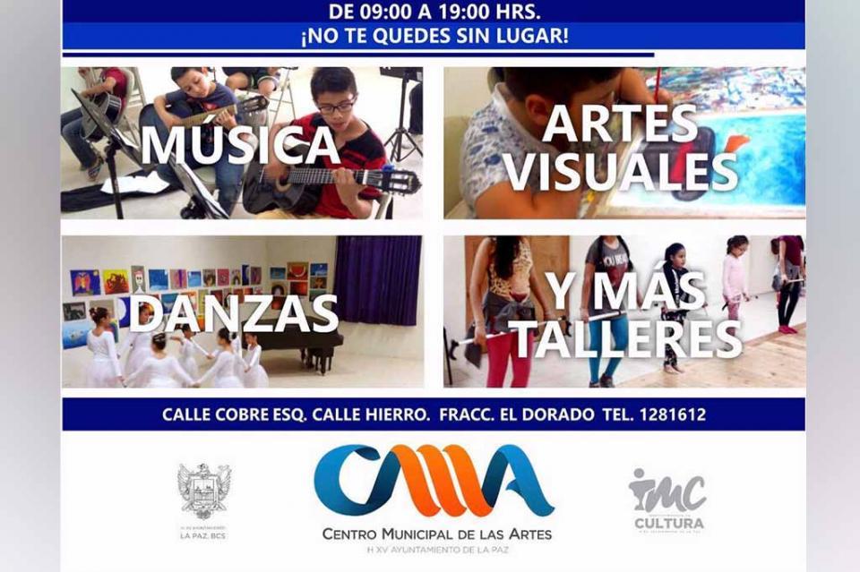 Invitan a los cursos de iniciación artística en el Centro Municipal de Las Artes