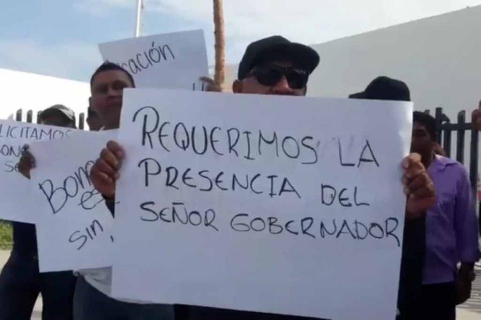 Hay manifestación de custodios en CERESO de La Paz