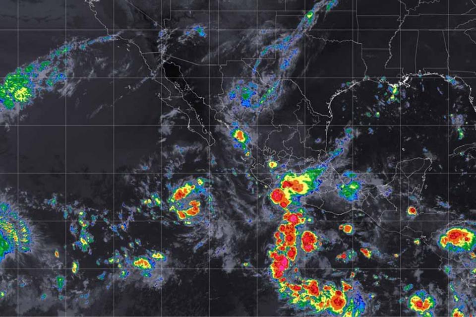 Zona de baja presión se localiza al sur de las costas de Baja California Sur