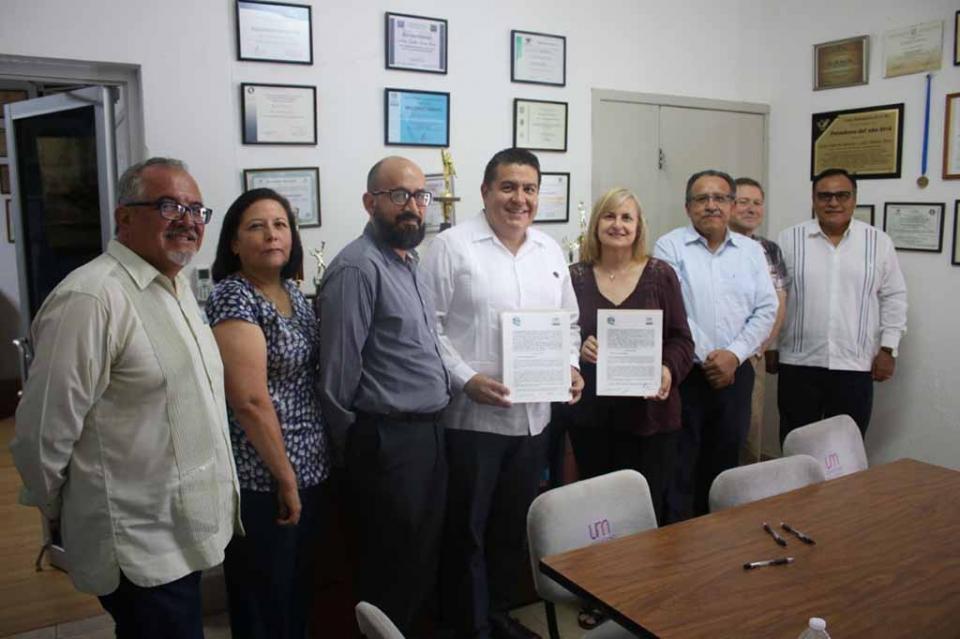 Formalizan alianza de colaboración UABCS y Universidad Mundial