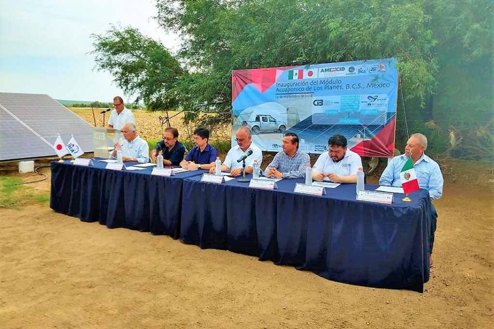 Apoya Gobierno Estatal Sistema de Acuaponía en la delegación de los planes