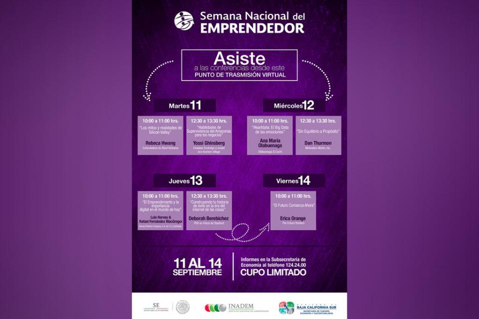 Invita SETUES a participar en Semana Nacional del Emprendedor