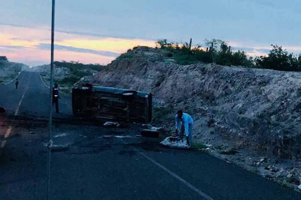 Vehículo choca contra una vacaen tramo Constitución-La Paz
