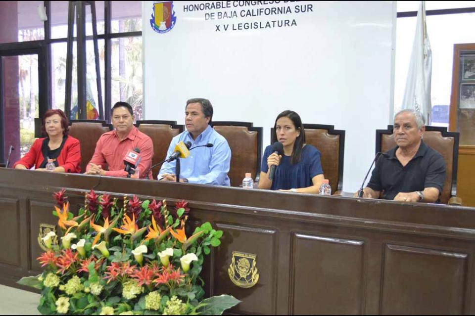 Anuncian Morena, PES y PT medidas de austeridad en el Congreso del Estado de BCS