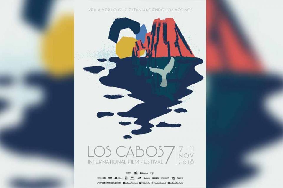 Festival Internacional de Cine de Los Cabos, presenta imagen para su VII edición